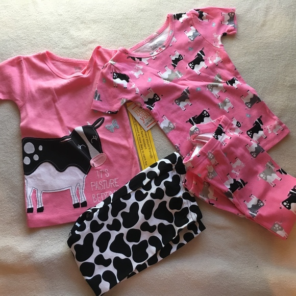 Carter/'s Just One You Girls Cow  3 Piece Pajamas 12M-5T  NWT